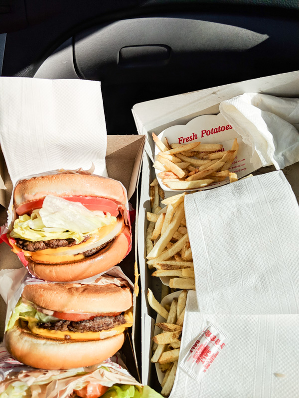 Photo of Food For Jessica Wallas Foodie Blog showing In N Out Burger