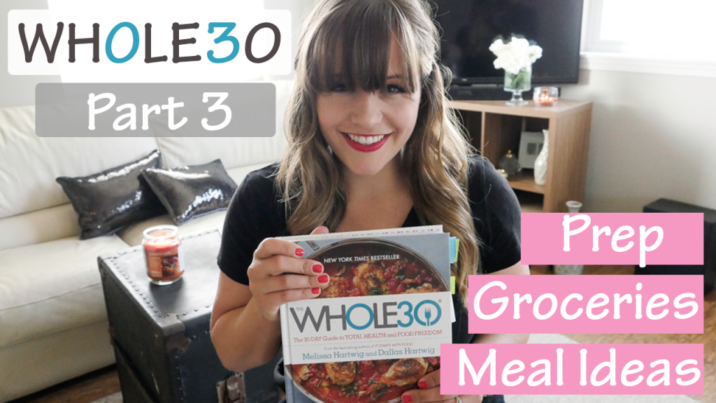 Photo of Jessica Walla for YouTube Thumnail for Whole30 Part 3 Video about meal prep and ideas and a grocery haul
