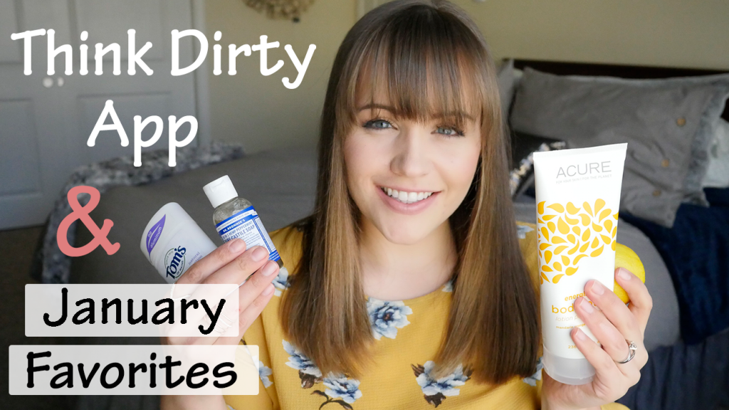 youtube thumbnail for jessica wallas beauty channel for think dirty app and january favorites video