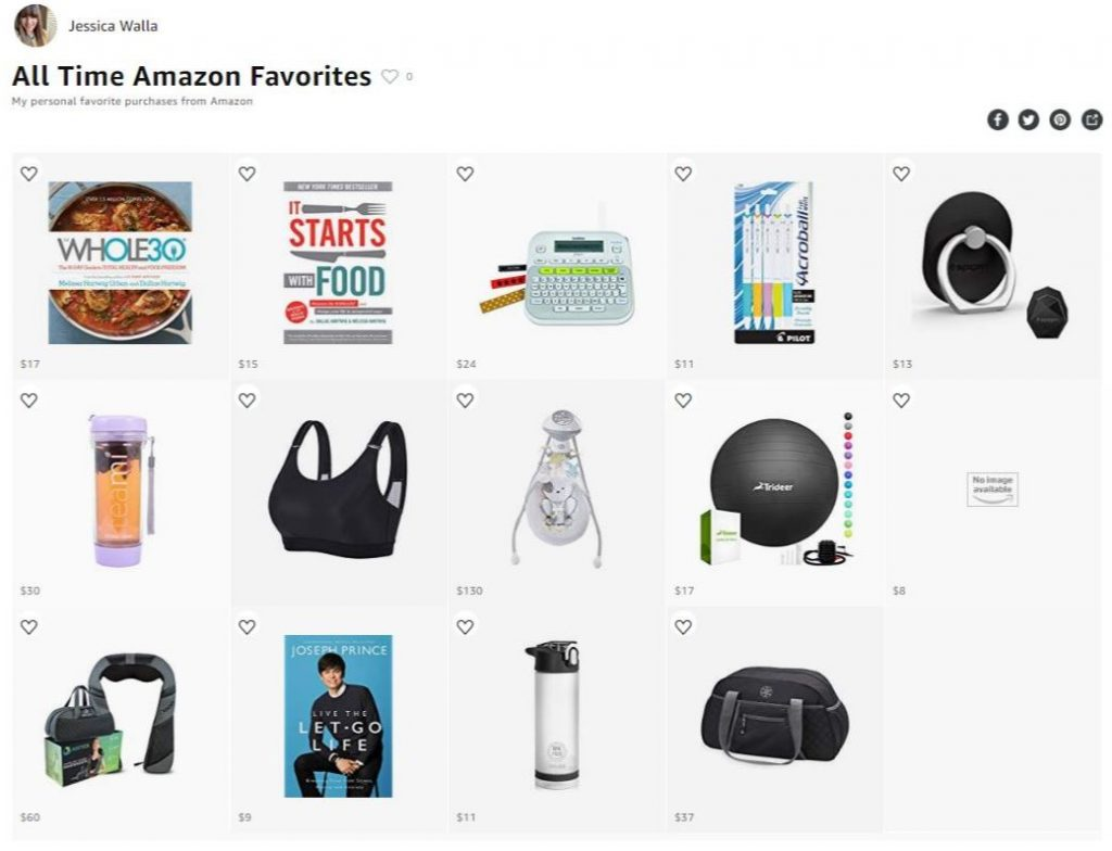 a screenshot of an amazon list of all time amazon favorites including the best label maker and the best tea cup
